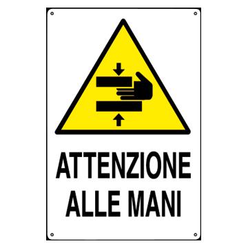 Cartello di pericolo in alluminio cartello con scritta e - Bagni di paraffina alle mani ...