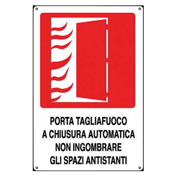 Cartello antincendio in alluminio scritta e simbolo porta - Porta automatica prezzo ...